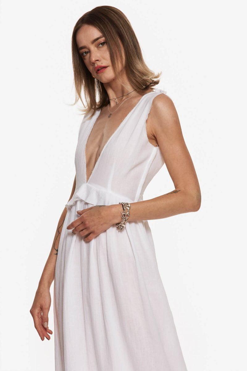 White Aphrodite Maxi Dress