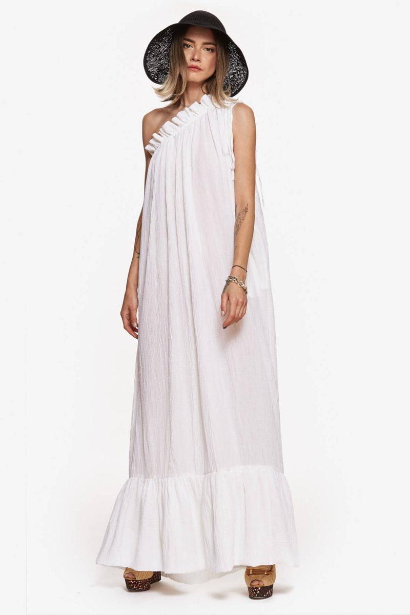 White Athena Maxi Dress